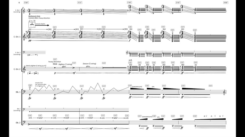 William Dougherty - hyper electric (w score) (for 2 e-guitars and 2 double bases) (2017)