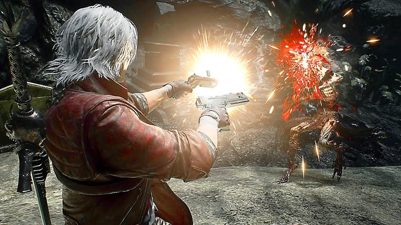 Devil May Cry 5 Dante Gameplay Vs Boss Fight Cavaliere Angelo Devil Trigger 2018