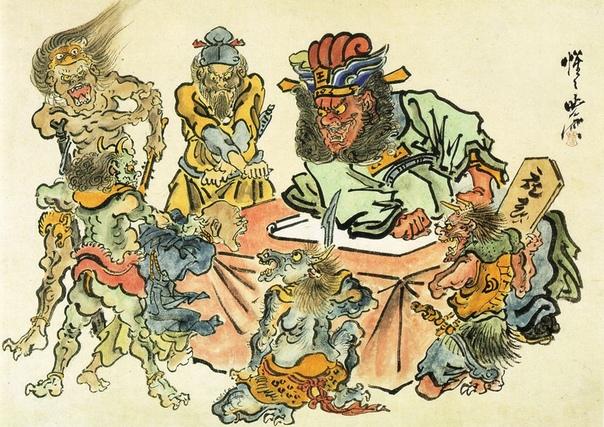 Каванабэ Кёсай и его адские иллюстрации. Каванабэ Кёсай (awanabe yosai, 1831-1889 гг), возможно, был последним виртуозом традиционной японской живописи. Получив классическое образование у