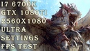 Monster Hunter World 21 9 Mod i7 6700k Gtx 1080 Ti 2560x1080 ULTRA SETTINGS FPS TEST