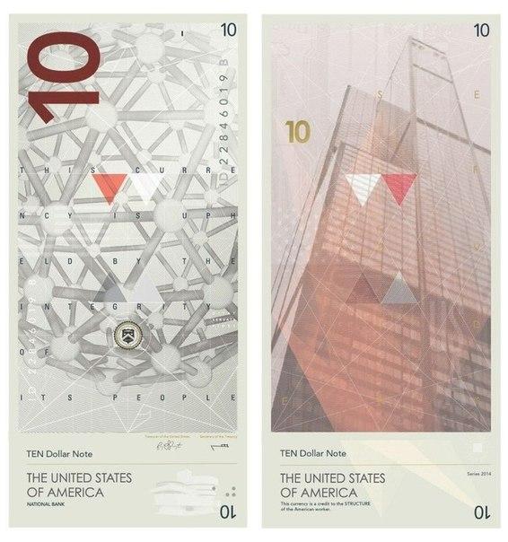 Американец Трэвис Паррингтон разработал новый дизайн долларов: без зел