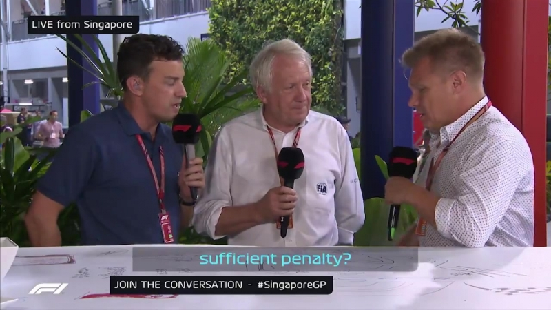 F1 Live: Charlie Whiting discusses Sergio Perez's penalty