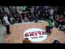 СИТИ БАТТЛ vol IV BREAK DANCE первые шаги BBOY Арсений win ws BBOY Влад