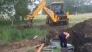 Монтаж выгребной ямы в поселке Давыдовка г. Омск (два бетонных кольца 1,5 м)