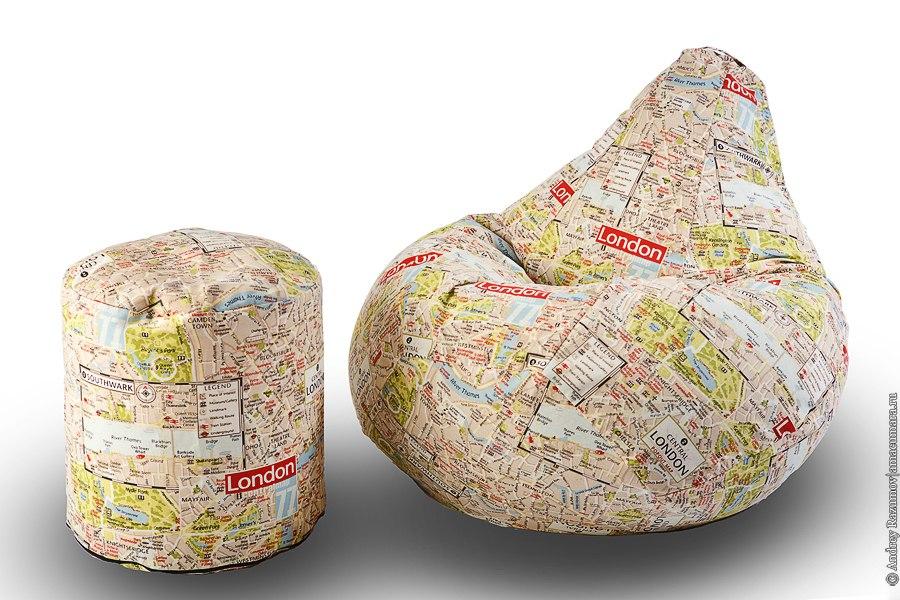бескаркасная мебель Bean Bag бинбег кресло-мешок
