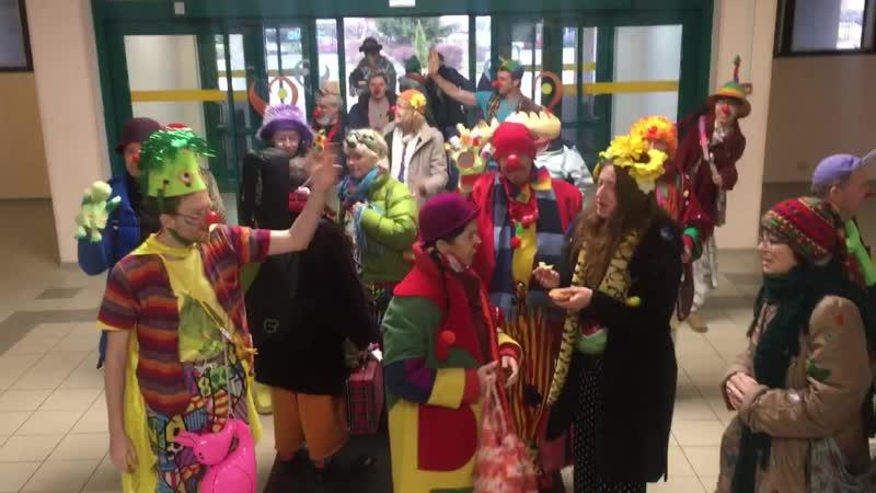 Междунродный слет больничных клоунов в нашей больнице!