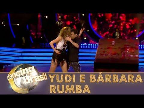 Yudi e Bárbara dançam rumba e são ovacionados pela plateia