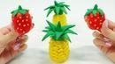 Cómo hacer frutas de plastilina. Vídeo de juguetes infantiles.