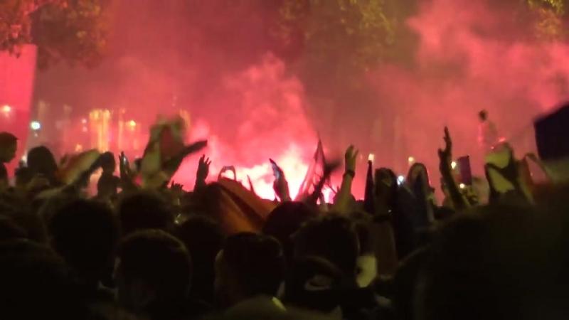 Mondial 2018 - Violents incidents sur les Champs Elysées après la fête Paris
