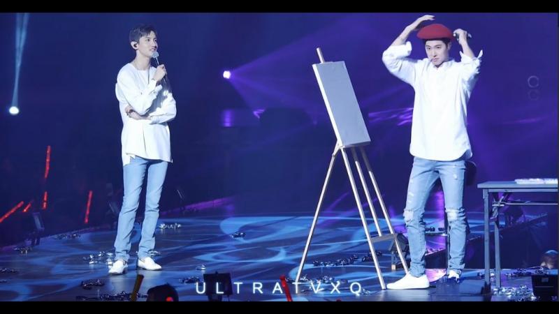 [4K] 171015 동방신기 유노윤호 최강창민 팬미팅 YouR PresenT Live in Macau - 최강창민 그리기