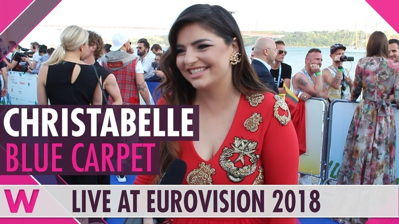 Christabelle (Malta) @ Eurovision 2018 Red / Blue Carpet Opening Ceremony