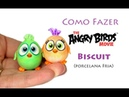Tutorial Angry Birds baby Ponteira de lápis biscuit, Angry Birds Clay Figures playdoh