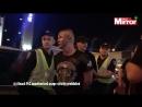 В Киеве люди в масках напали на фанатов Ливерпуля