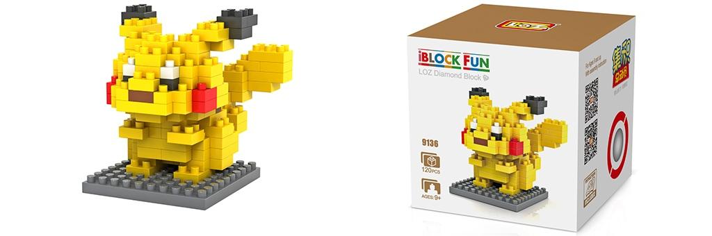 "Конструктор LOZ Diamond Block iBlock Fun ""Покемон Пикачу"" 9136"