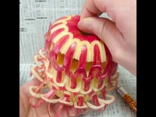 Most amazing video -1 ( Artist Makes Intricate Carvings Out Of Fruit And Vegetables )