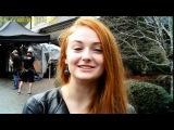 Софи Тернер (Игра Престолов) Тоби Себастьян как говорить с американским акцентом