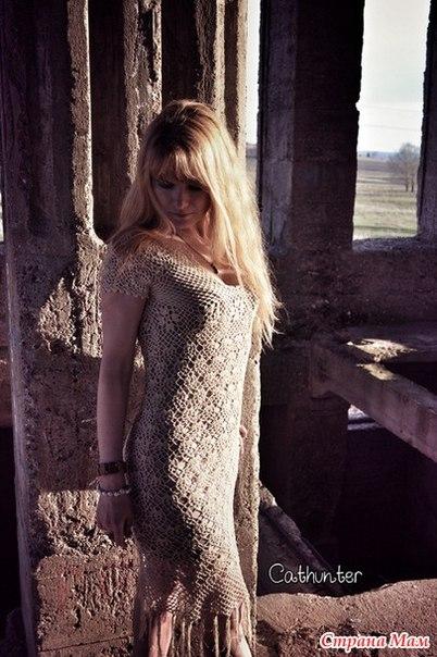 Романтичное платье крючком Карина (8 фото) - картинка