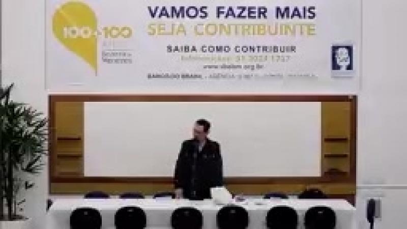 Como agir perante a miséria social Início às 20h Palestrante José Frederico Cunha SBEBM