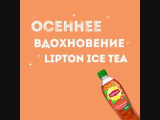 Все краски осени в бутылке lipton ice tea