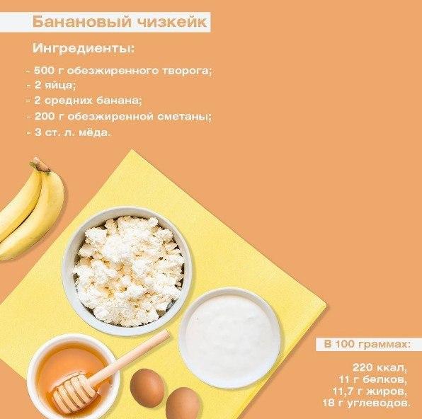 Творог сметана банан