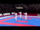 (12) Karate Japan vs Italy. Final Male Team Kata. WKF World Karate Championships 2012