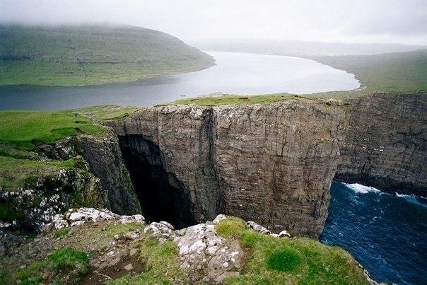 Озеро Сорвагсватн, Фаррерские острова.