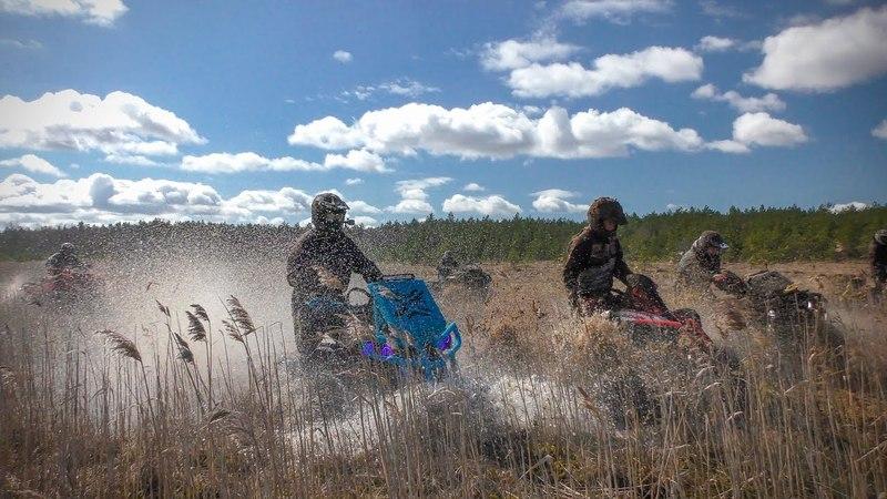 ATV. Квадроциклы на болоте! Приключения ХМыRей в Estonia! Песчаные карьеры!