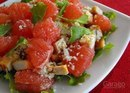 Салат из курицы с грейпфрутом, сельдереем и орехами: на ужин!