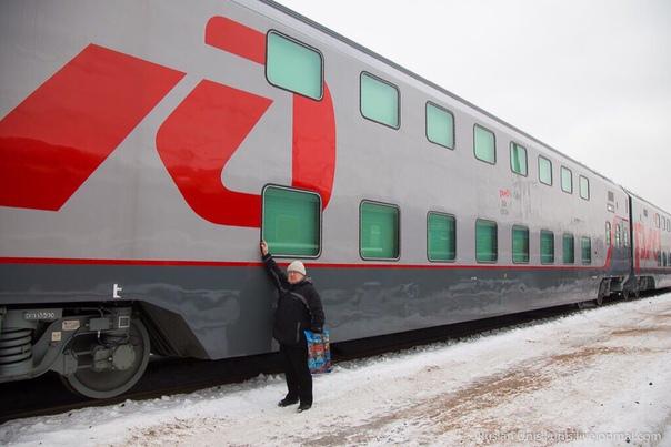 🚈Первый двухэтажный поезд появился на Горьковской железной дороге🛤  Со