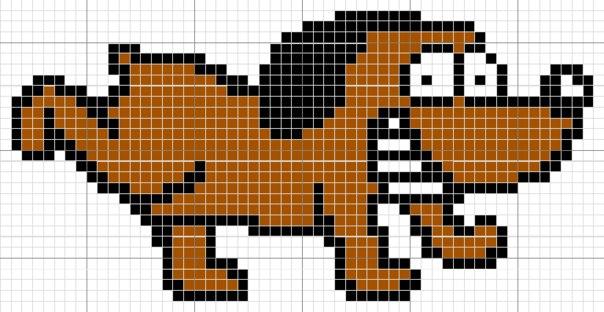 схемы фенечек с животными