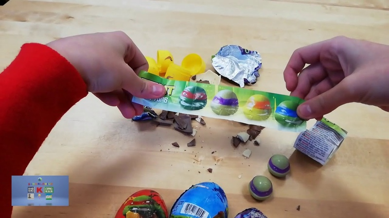 Öppnar 5 ninja turtles ägg
