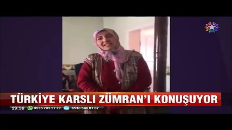 Türkiye güleç yüzlü Karslı Zümran Ömürü konuşuyor
