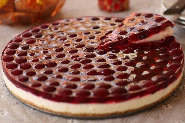 торт желе из натурального вишневого сока с желатином рецепт