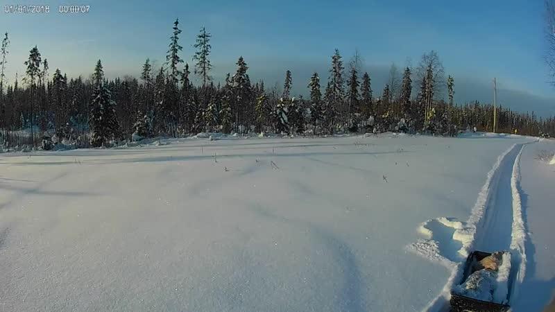 Выезд на толкаче в пухляк, снегу по самое немогу. 06.02.2019.mp4
