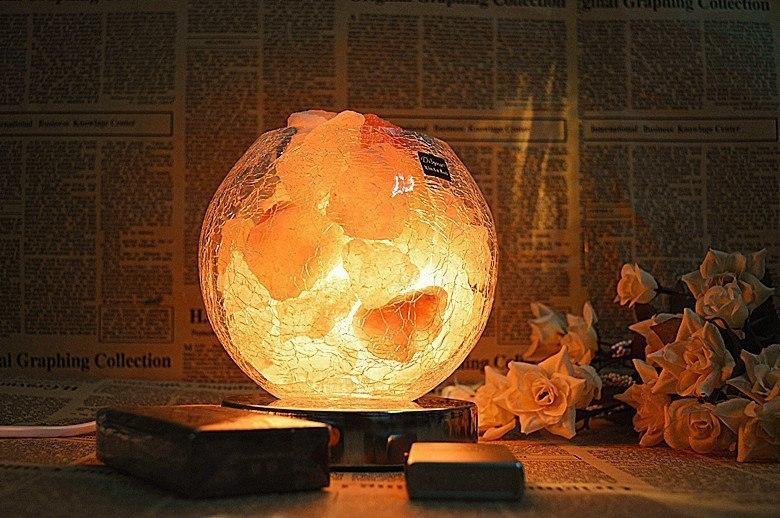 Солевая лампа - Полезный и оригинальный ночник Благодаря своим свойствам очищает воздух устраняет неприятные запахи и ре
