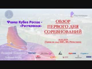 Обзор первого дня соревнований финала Кубка России 2019