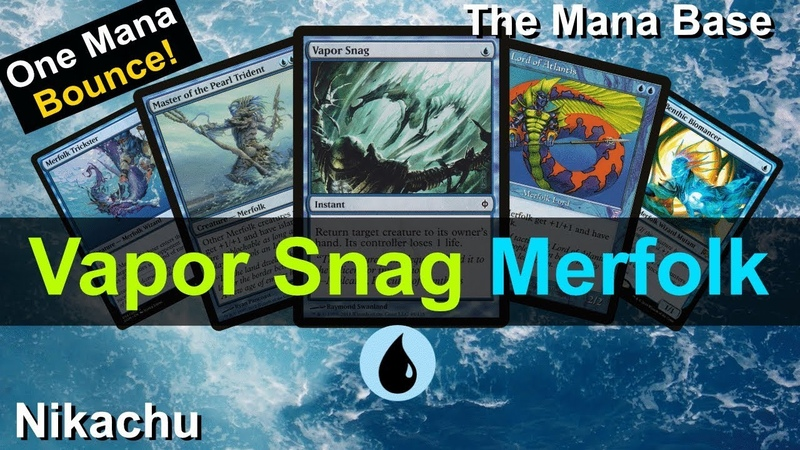 Modern Merfolk with 4x Vapor Snag. MTGO Magic gameplay