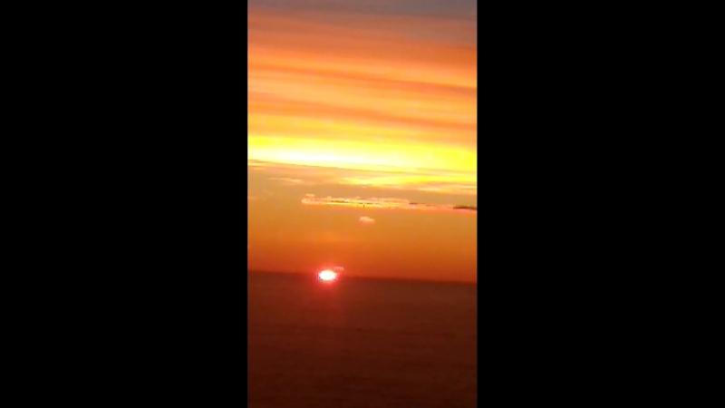 Восход и закат в небе