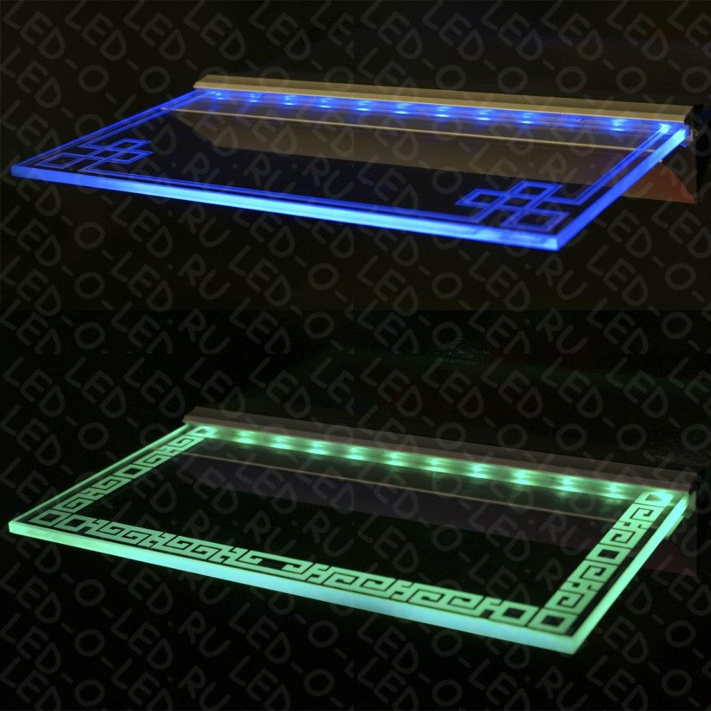 Как сделать светодиодную подсветку для стеклянных полок своими руками