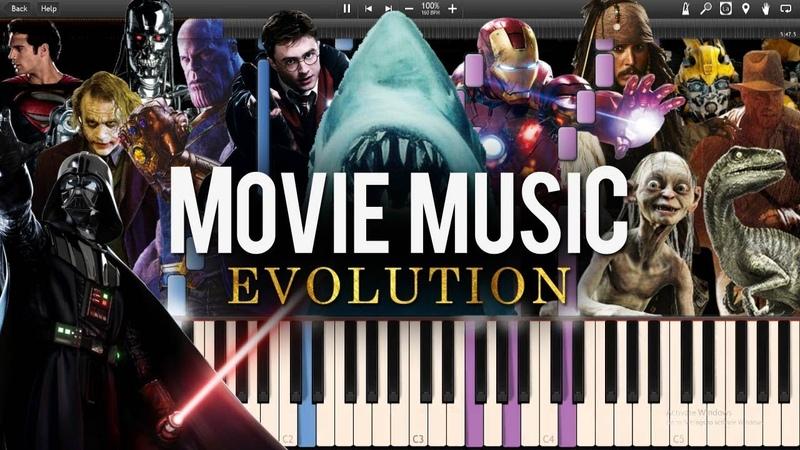 Movie Music Evolution - Mashup/Medley on Piano [1960-2018] (Synthesia Piano Tutorial)SHEETSMIDI