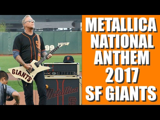 METALLICA STAR SPANGLED BANNER San Francisco Giants Night 2017, James Hetfield Interview
