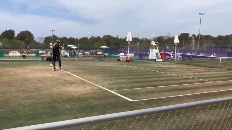 Vika Azarenka practice at Mallorca