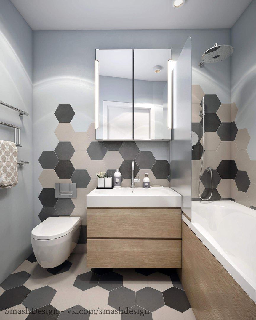 Идея дизайна однокомнатной квартиры