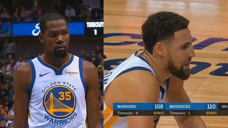 Kevin Durant CHOKES with Klay Thompson in Final Minutes! Warriors vs Mavericks