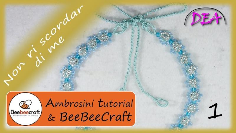 T1°.P.1°- Non ti scordar di me.Collaborazione con la Beebeecraft. Modulo fiore, perle nei cerchi.