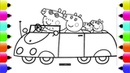 Peppa's Paintbox - Peppa Pig Car Coloring Pages | Cartoon Episodes 4 PeppaPig