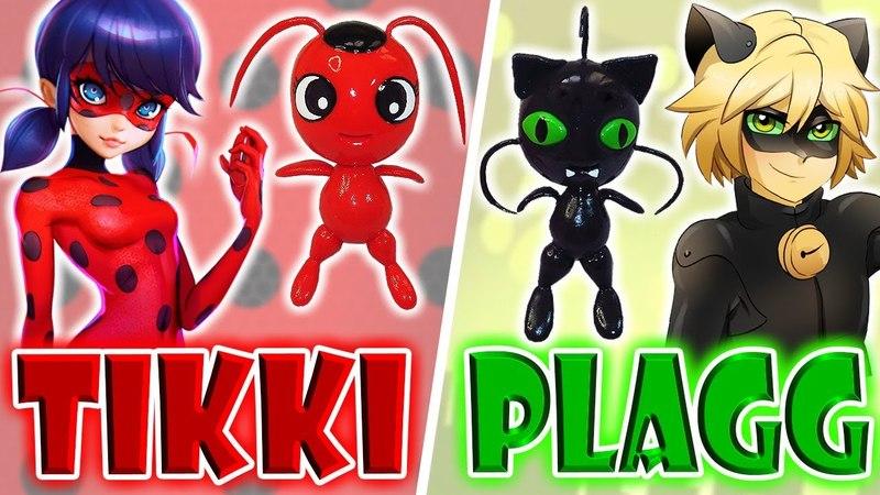 ♥ DIY: Llaveros de Tikki y Plagg (Miraculous Ladybug) ♥