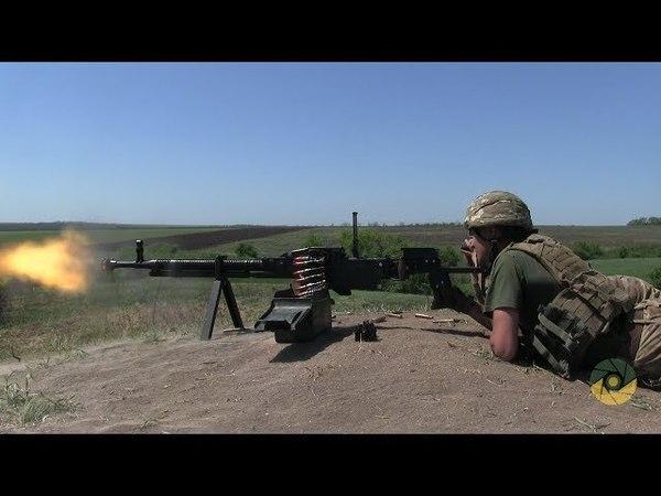 Змагання розрахунків кулеметів ДШК на полігоні в районі проведення ООС