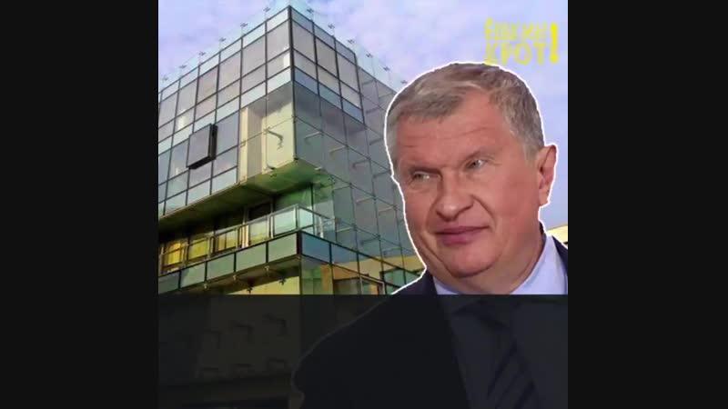 Сечин, качающий нефть из недр российской земли, купил очередную квартиру за 2 млрд .