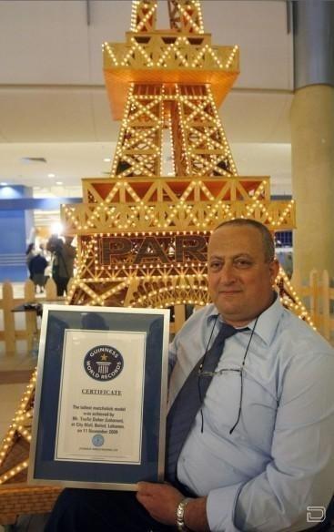 Инвалид-колясочник Туфик Дахер (Tufiq Daher) сделал самую высокую Эйфелеву башню...
